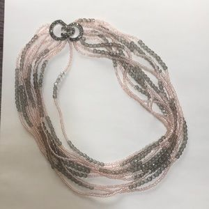 Banana Republic Pink and Grey Necklace
